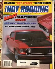 1982 Popular Hot Rodding Magazine 124 Pg Alloy Block & Heads Quicksilver Shifter