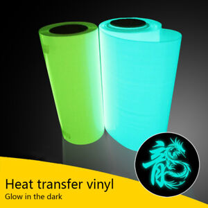 Glow In The Dark T-shirt Vinyl HTV Heat Press Transfer Fluorescence Green Blue