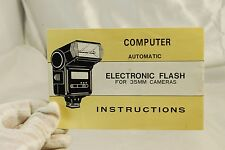 Computer Automatic Electronic Flash for 35mm Cameras Instructions Vintage6102082