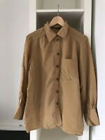 Zara Light Brown Oversized Shirt Blouse Womenswear Size S