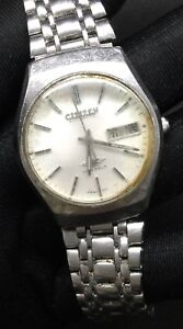 Citizen Automatic 51-8051 Vintage Watch Doesn'T Works For Pieces 1 11/32in