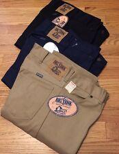 Lot 3 Vintage BIG YANK Union Made Talon 42 Zip Western Straight Pants. 30x33-34