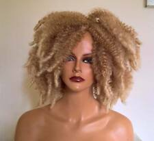 New LIMITED EDITION Sandy Blonde/Lt Blonde tips Wild-Afro Curls and Crimped Wig