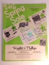 VINTAGE 1977 RICTER & PHILLIPS CATALOG JEWELRY RING TYPEWRITER CAMERA RADIO