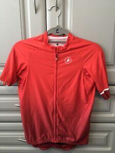 Castelli Aero Race 6.0 Cycling Jersey - Large, Red/White, Light Use, Nice!