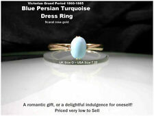 9 Carat Turquoise Victorian (1837 - 1901) Fine Rings