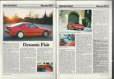 1987 MAZDA RX7 Road Test article, Mazda RX 7, from British auto magazine