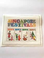 Singapore 141a Festivals Souvenir Sheet , Never Hinged