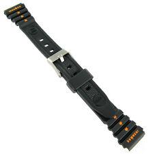 15mm Timex Ironman Triathlon Black Orange Ladies Rubber Sports Watch Band 382111
