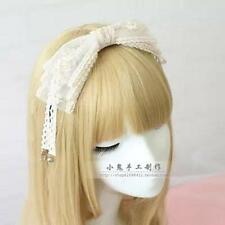 Sister soft white lace bow hair bands  accessories pressed the bell notes