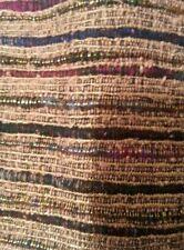 Gold metallic raw silk fabric