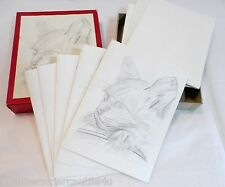 Pencil Sketched Cat Note Cards by Mohak Gokhale