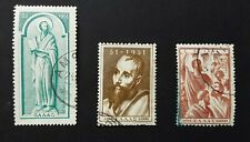 More details for greece 1951 - st paul's travels  part set of 3 used stamps sg 689-691 cv £120