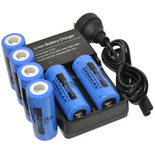 6X 26650 Battery + Dual Charger Rechargeable For UltraFire LED Flashlight Torch