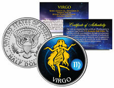 VIRGO Horoscope Astrology Zodiac Kennedy U.S. Colorized Half Dollar Coin