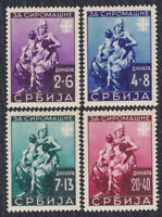 Germany occupation of Serbia 1942 For poor, weaker quality MH with yellow stains