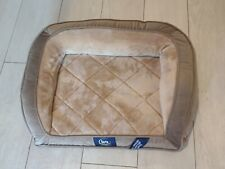 New listing Dog Bed Orthopedic Gel Memory Foam Pet Quilted Couch Small Brown Serta