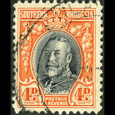 SOUTHERN RHODESIA 1931-37 4d. Black-Vermilion Perf 12. SG 19. Fine Used (W0672A)