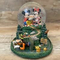 Mickey Minnie & Friends In The Good Old Summertime Tune Rare Musical Snowglobe.