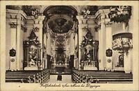 Wallfahrtskirche Ave Maria bei Deggingen s/w AK ~1920/30 Innenansicht ungelaufen