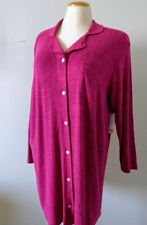 Button P Coat Nightgown Plus Size 2X Relaxed Pink BERRY Sleep Lounge Robe Sonoma