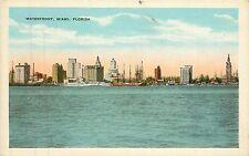 Florida, FL, Miami, Waterfront 1920's Postcard