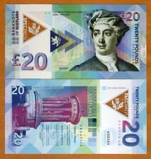 Scotland, 20 pounds, 2018, Private Issue Clear Window Polymer, David Hume