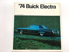 1974 Buick Electra Original Car Sales Brochure Folder