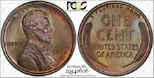 1912 1C Lincoln Cent PCGS MS64BN Gem Color Toning Secure w/TrueView