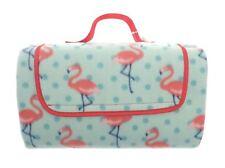 AL Fresco Fleece Flamingo Blanket With Waterproof Backing