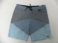 "Billabong Men Surfplus Navy Gray & Blue 18"" Lo Tides Boardshorts Swimwear Sz 32"