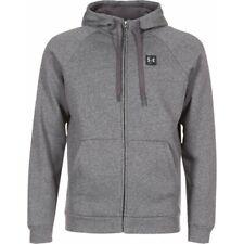 Under Armour Rival Fleece Hoodie for Men Full Zip Charcoal Sport Casual Top New