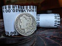 ONE BANK SEALED KENNEDY HALF DOLLAR COIN ROLL - ONE SILVER MORGAN DOLLAR