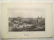 Frohburg Sachsen Lithografie um 1850