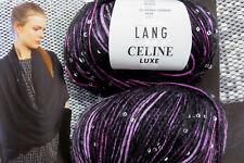 600 g Celine Luxe Lila Schwarz elegant Lang Yarns Lana UVP 95,40 € Mohair Fb 46