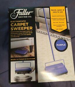 Fuller Brush  17032 electrostatic Carpet & hardwood Sweeper Cleaner  purple