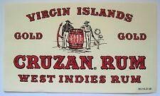 CRUZAN RUM Label Virgin Islands Gold - Large Old Label