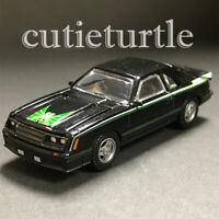 1:64 1980 Ford Mustang Cobra Black with Green Graphics