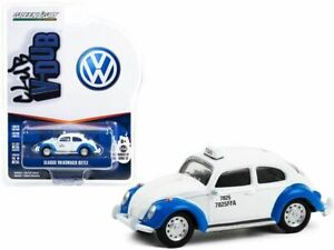 1:64 Volkswagen Beetle -- White & Blue Acapulco Taxi (Mexico) -- Greenlight