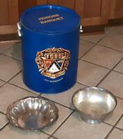 LOT OF 3 Ford 300-500 Club 1972 metal cooler/1966 Silver Tray/1973 Bowl dish OLD