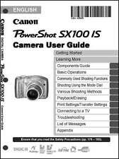 Canon Powershot SX100 IS Digital Camera User Instruction Guide  Manual