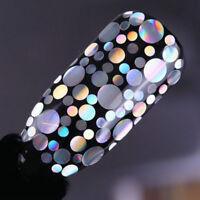 Holo Nail Glitter Sequins Flakes Laser Nail Art Mixed Size Tips BOX