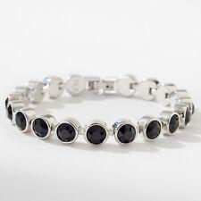 Touchstone Crystal by Swarovski Jet Black Ice Bracelet Bnib