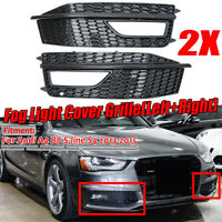 Pair Fog Light Lamp Grille Grill Cover Bezel Plate For AUDI A4 S-Line S4   √ !*