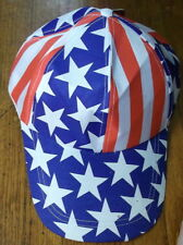 NWT AMERICAN FLAG HAT 4TH OF JULY STARS & STRIPES  ONE SZ  INDEPENDENCE DAY