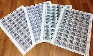 Greenland Full Sheet Marginal G114-117 1989 Birds III Complete Series - MNH