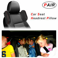 Pair Car Seat Headrest Pillow Head Neck Support Rest Sleep Side Cushion For Adul