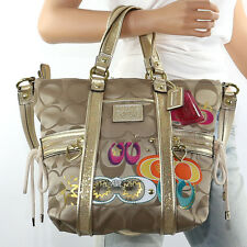 New Coach Poppy Pop C Applique Shoulder Bag Hand Bag Tote  F21101 New RARE