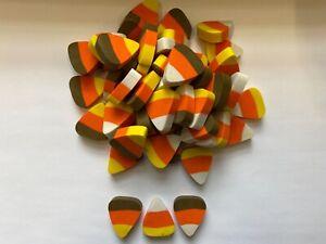 60 mini Halloween candy corn erasers teacher supply sorting math counter NWT