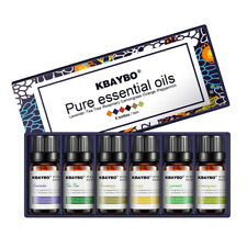 KBAYBO Essential Oil 6 Kinds Lavender, Tea Tree, Rosemary, Lemongrass, Orange